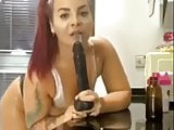deep throat big black dildo