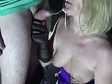 A french wife fucked and creamed in a porn cinema