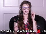 Great casting with a nymphomaniac brunette bitch
