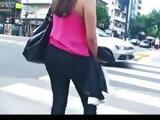 big fat ass in leggins - girls in jeans - nice spandex ass