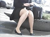 Pantyhose Legs On A Smoke Break