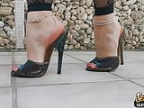 Extreme High Heels Mules