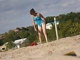 Girl on beach 25