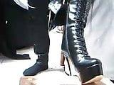 I put my boots on platform and stilettos