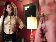 Cruel Mistress Torture Slave On Cock