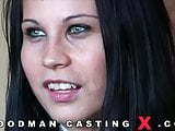 Great casting with a tiny brunette beauty