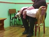 Adult Schoolgirl Caned & Spanked in Uniform