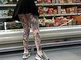 Upskirt young girl tatoo 4
