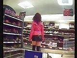 Charlotte overknee micro skirt plug public