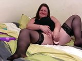 very sexy stolen video of BBW housemate trying new anal toy