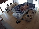 Hidden cameras. Wife came home and he fucked her