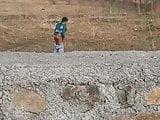 Desi indian girl outdoor piss