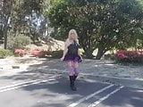 Badgirl Purple Stockings
