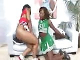 Chadian cheerleaders Baby Cakes and Osa Lovely