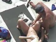 Dutch Granny fucked on a Portuguese beach