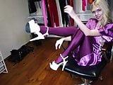 Shiny Purple Pantyhose