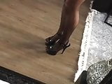 Nylon stockings , Femdom Pleaser High Heels Die Domina