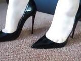 Cum on peeptoe patent heels