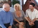 Husband Shares His Blonde Slut Wife Together with Hubby