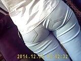 Somewhat sagging buttocks