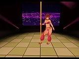 custom order maid 3d 2 pole dance 3