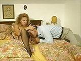 Hot blonde girls Laura and Judith sharing big hard cocks