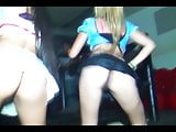 Young Teens Showing Her Asses At The Disco
