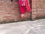 red shalwar Pakistani ass