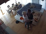 Hidden cameras. My wife came home