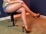 Wife in pantyhose having fun