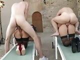 Black Stockin Sasha Rose and Samantha Jolie Fuck Their Guys
