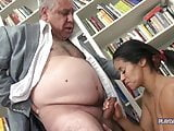 Very Old Grandpa Fucks Young Brunette 2