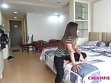 Short sweet Thai girl given uncensored Japan creampie