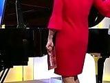 Susan Link sexy im kurzen Kleid und High Heels Zeitlupe