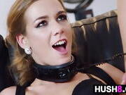 Kinky Blonde Collarded And Fucks After Party
