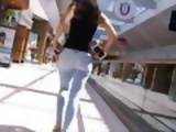 Candid tight teen ass in jeans at the mall