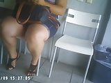 chubby legged lady in waiting room part1