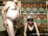 This old lady is really a slut