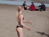 Blonde Girl Playing