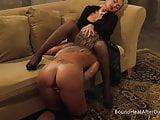 Lesbo Mistress Orgasm And Scream From Slaves Licking Skills