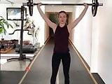 Brie Larson gym