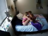 Voyeur cam picks up roommates playing with their hitachi