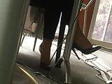 Colleague in high heels pumps 14