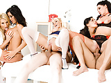 Sizzling Orgy with Five Busty Nurses
