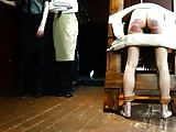 Beautiful girls being caned hard.