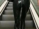 Shiny Pvc Vinyl Rubber Pants Leggings