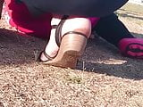 Pretty MILF with dirty feets part 2
