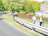 Nice arse caught on dashcam