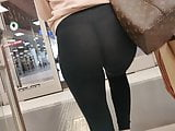 Teen Exposes Her Tiny G-String in Thin, See Through Leggings