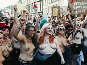 Free the nipple activists in Edinburgh, 2015
